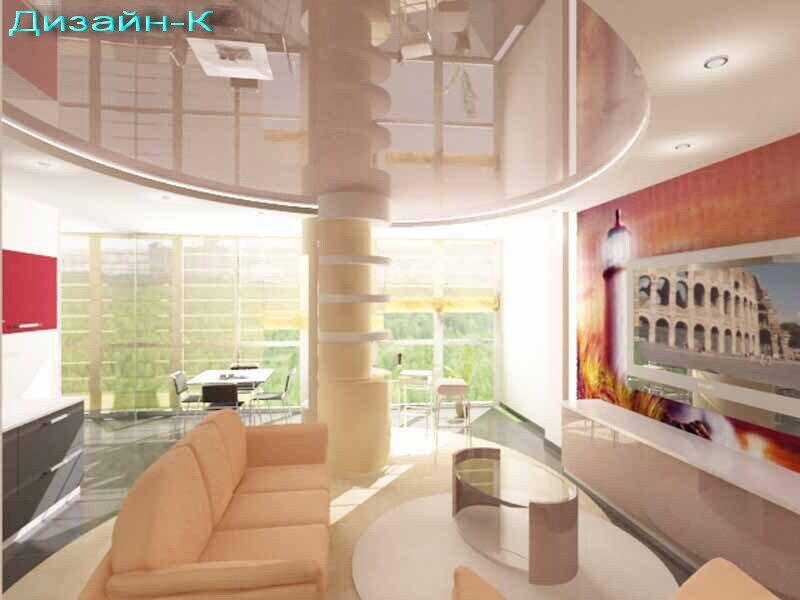 Вариант 1 гостиная+кухня+лоджия дизайн проект квартиры метро.